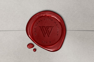Wax Seal Logo Mock-Up Template Vol2