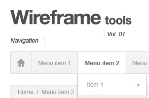 Webpage Wireframe Stencil
