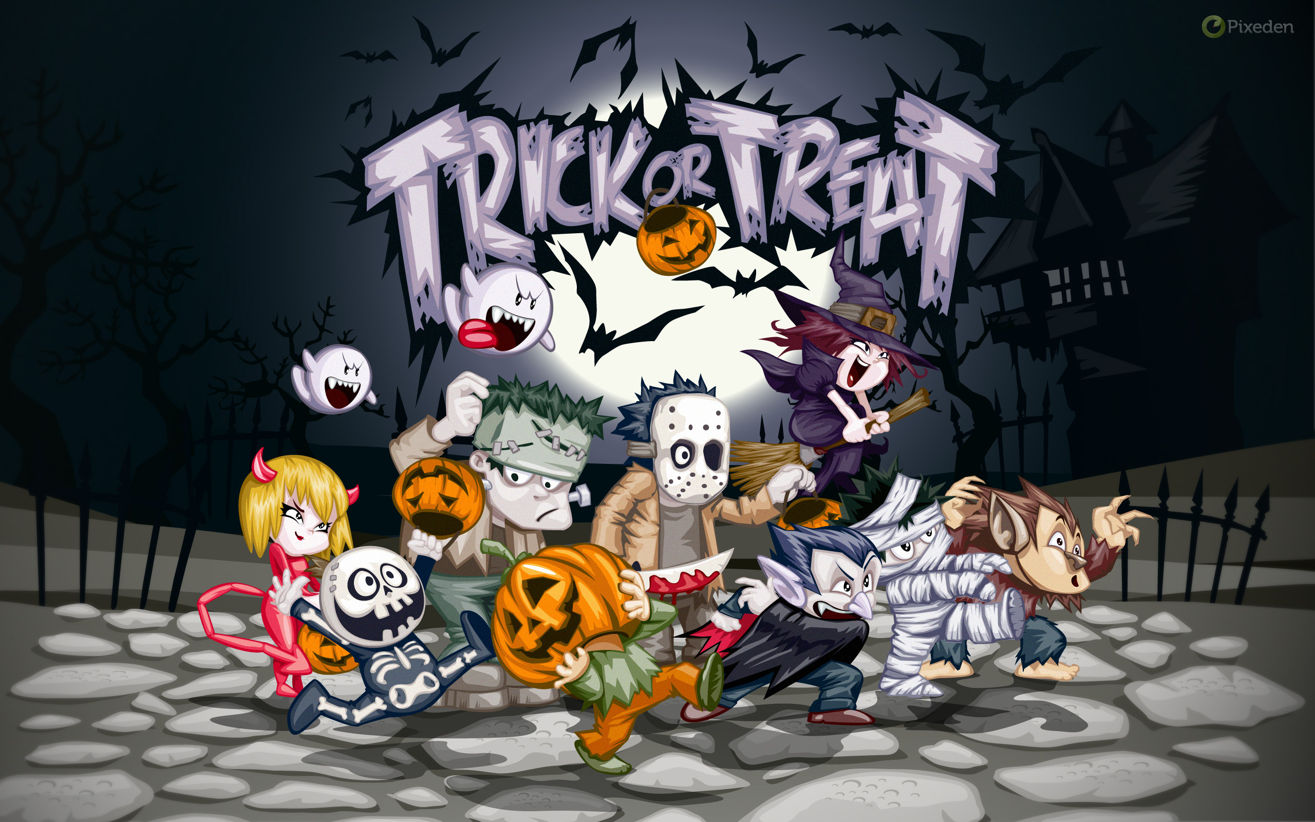 Halloween Wallpaper Widescreen Pixeden Sep 2011
