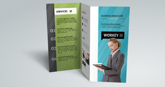 Corporate Tri Fold Brochure Template | Brochure Templates | Pixeden