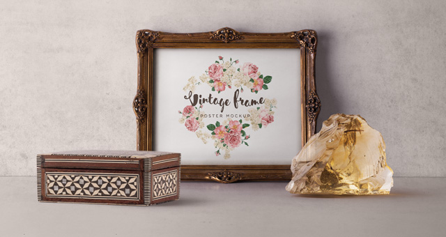 Vintage Picture Frame Mockup Vol2   Psd Mock Up Templates