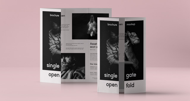 Psd Single Gate Fold Mockup Us A  Psd Mock Up Templates  Pixeden