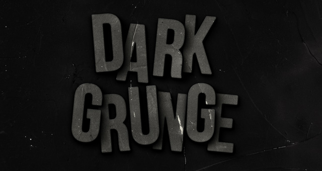 dark grunge psd text effect