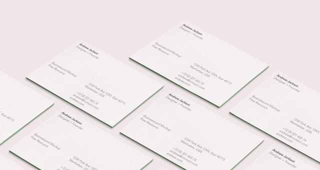 psd business card mock