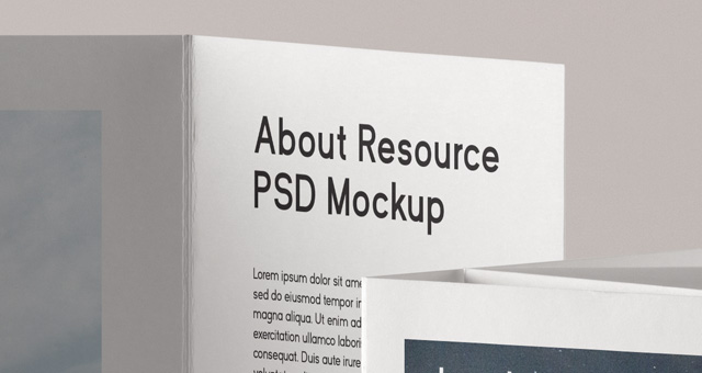 Double Parallel Fold Psd Brochure Psd Mock Up Templates