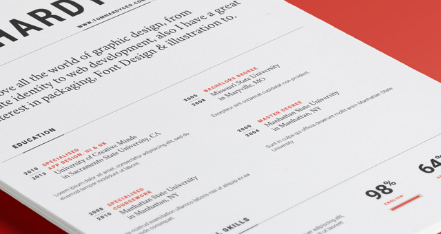 Simple Resume Template vol12 Resumes Templates Pixeden