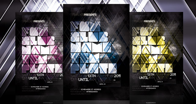 Nightclub Flyer Template Psd  Flyer Templates  Pixeden