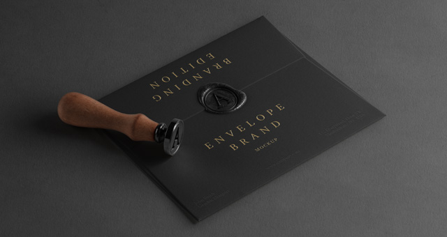 Psd Enveloppe Wax Seal Mockup Psd Mock Up Templates