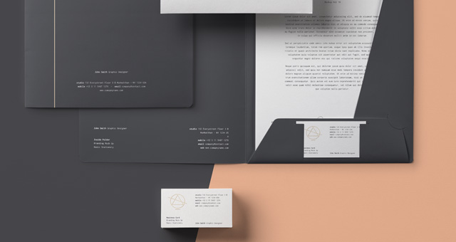 Basic Stationery Branding Vol 10   Psd Mock Up Templates