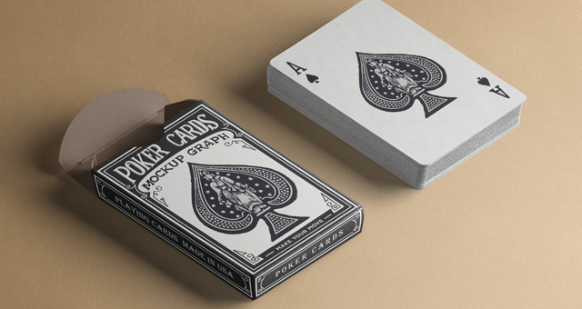 psd playing cards mock