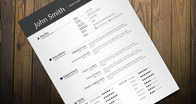 simple resume template resumes templates pixeden
