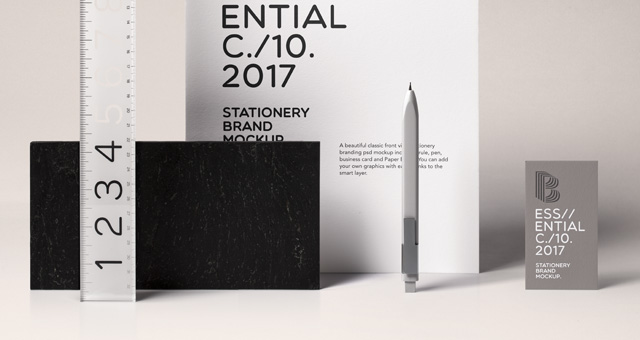 essential stationery psd mockup | psd mock up templates | pixeden, Powerpoint templates