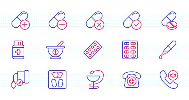 health  u0026 medical icon set
