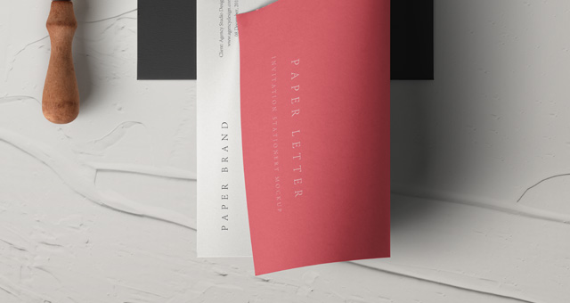 psd invitation envelope mockup