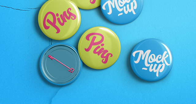 psd pin badge mockup template