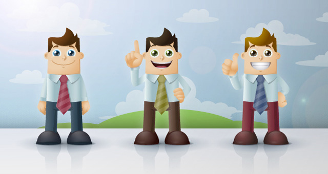 Business Man Cartoon Vector Characters 01