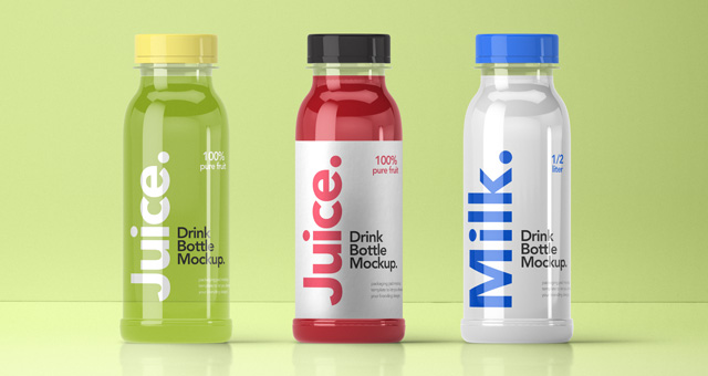 Psd Juice Smoothie Bottle Mockup Psd Mock Up Templates