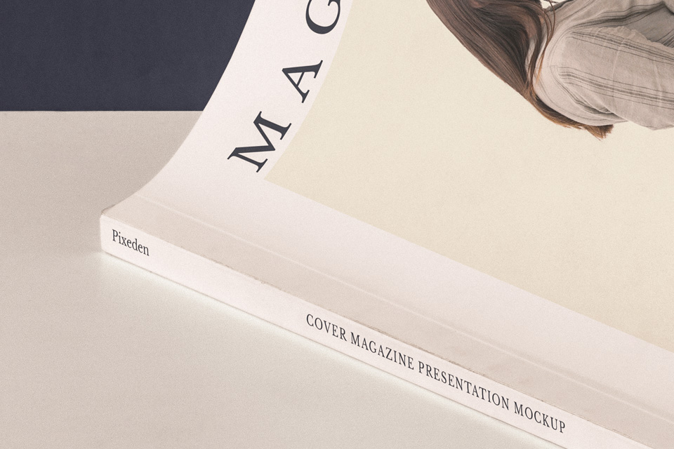 cover magazine mockup presentation psd mock up templates