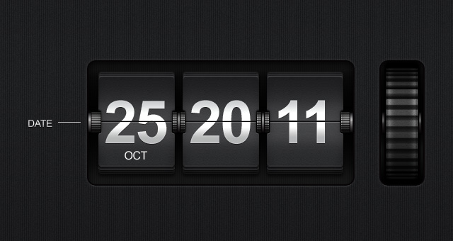 flip time date display psd