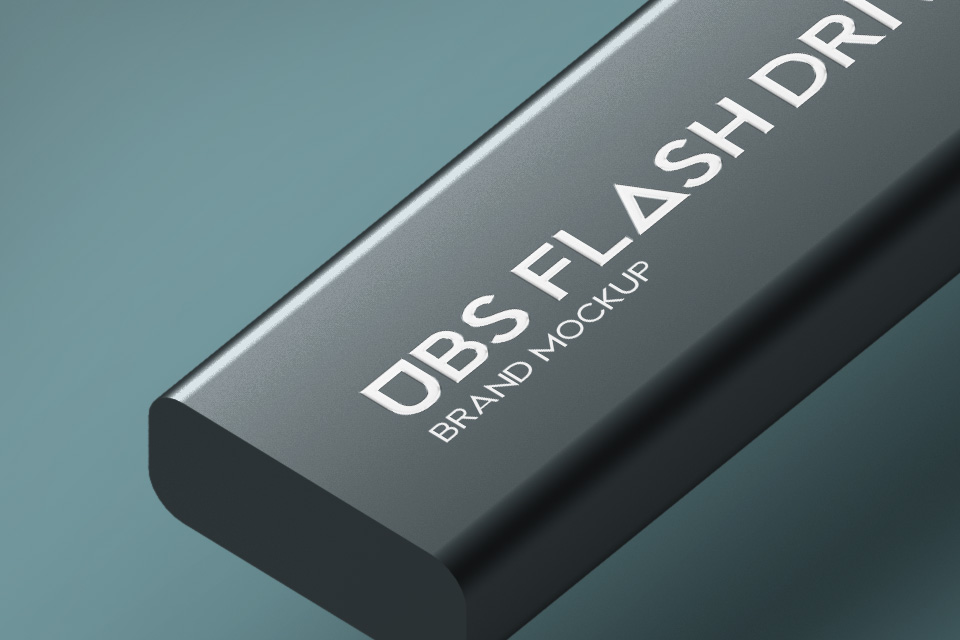 psd usb flash drive brand mockup