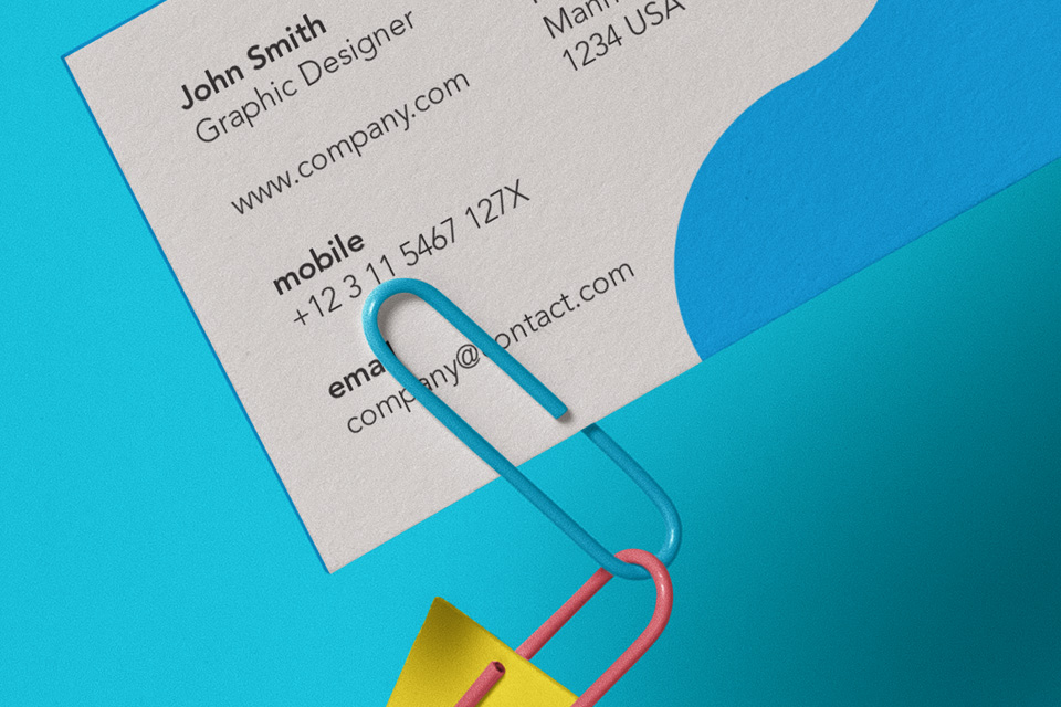 Clipped Psd Business Card Mockup | Psd Mock Up Templates | Pixeden