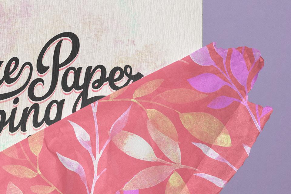Square Psd Invitation Card Paper Wrap Psd Mock Up