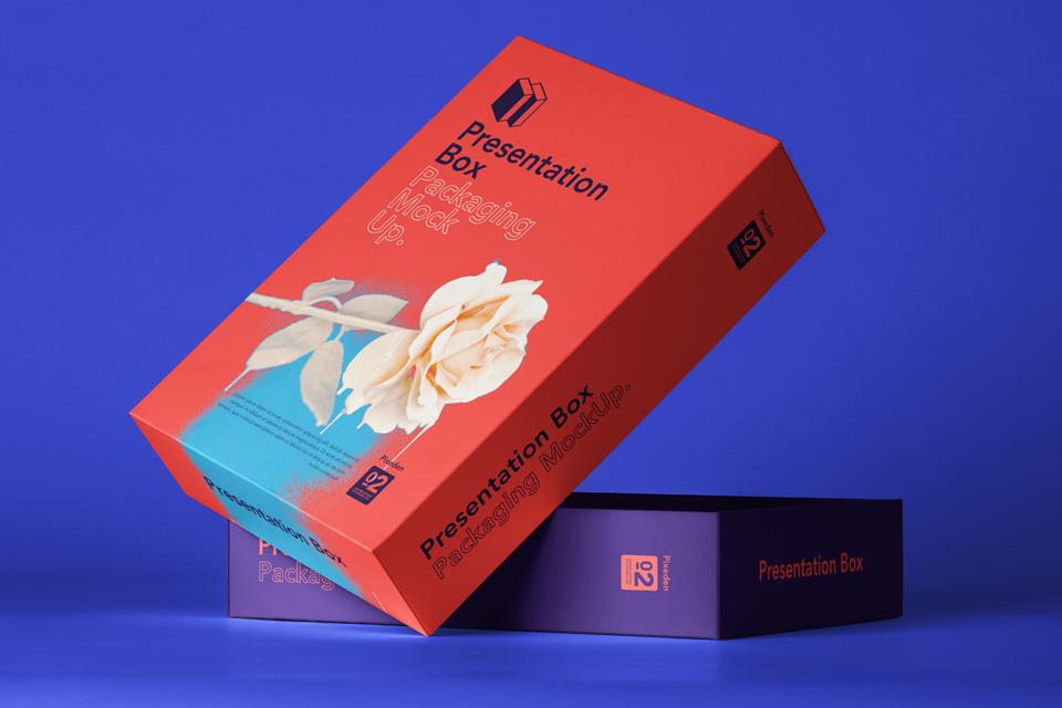 psd box packaging mockup 2