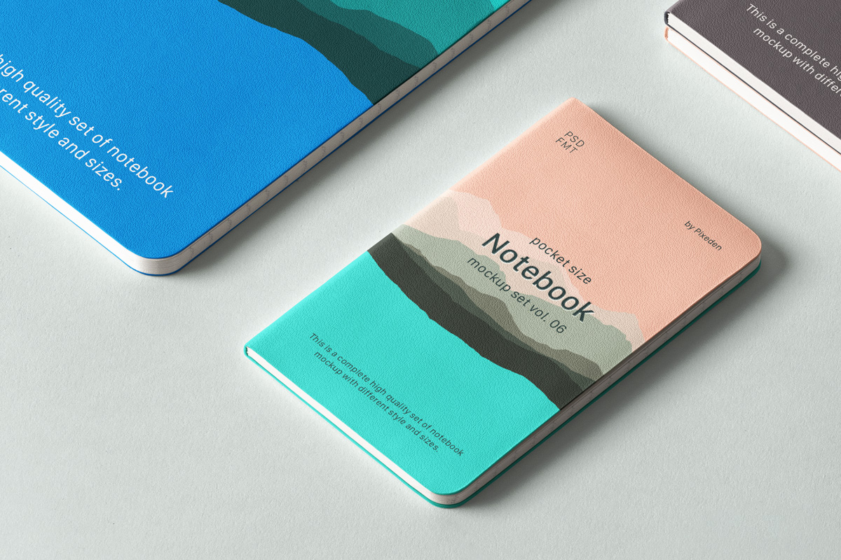 Psd Notebook Mockup Set Vol 6   Psd Mock Up Templates