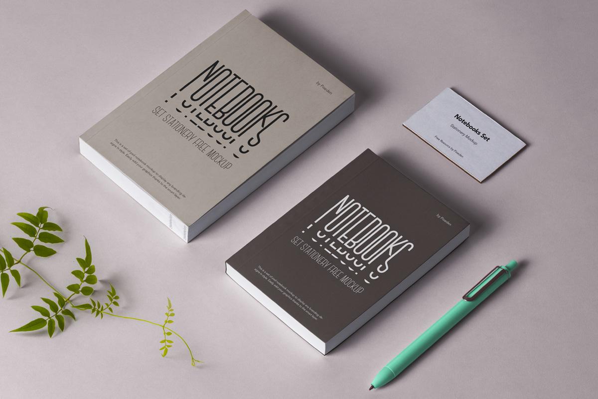 Psd Notebook Stationery Mockup Psd Mock Up Templates Pixeden