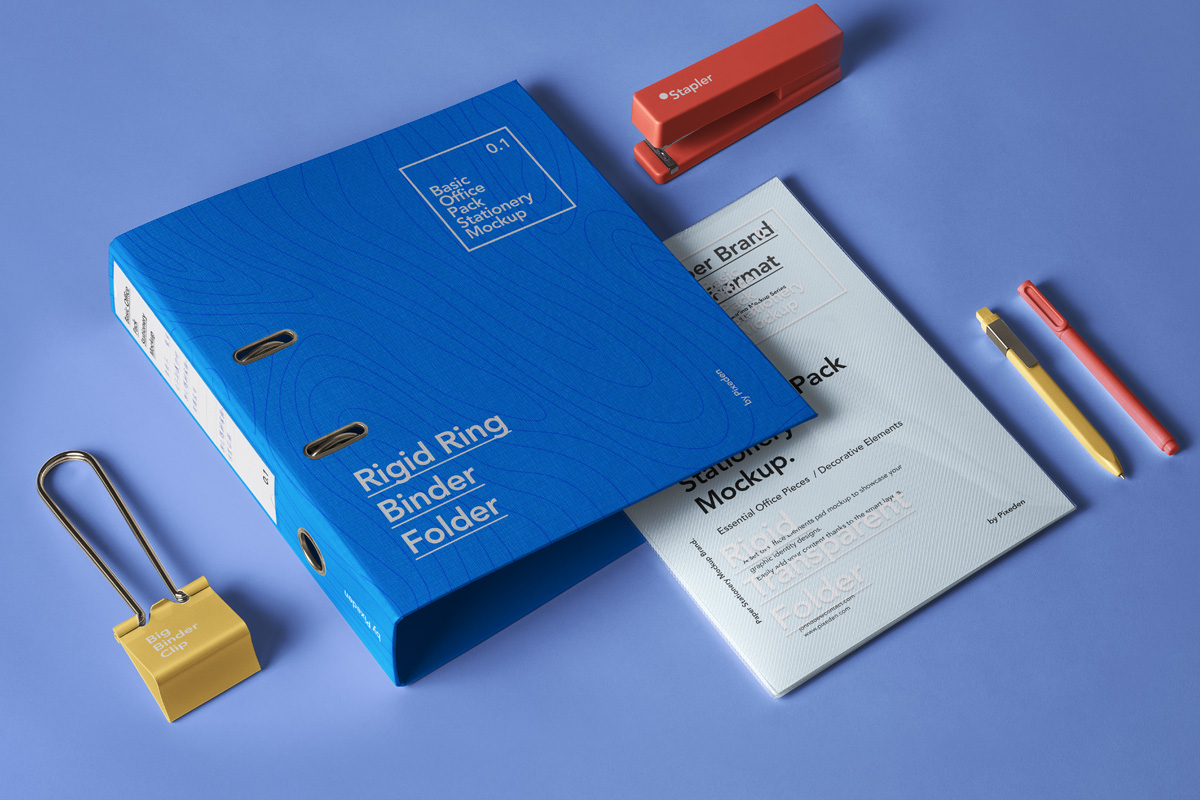 office pack psd stationery mockup