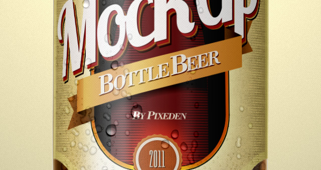 Beer Bottle Psd Mockup Template Psd Mock Up Templates