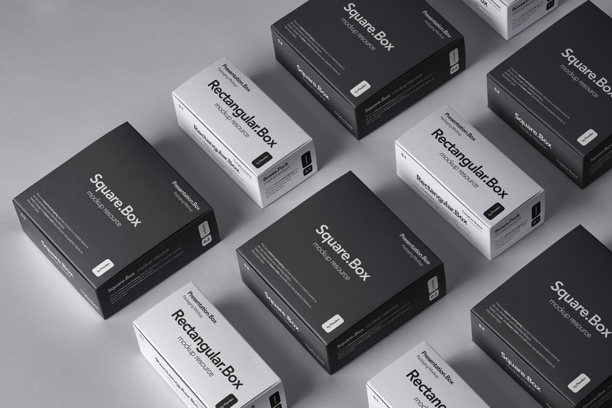 boxes psd packaging mockup