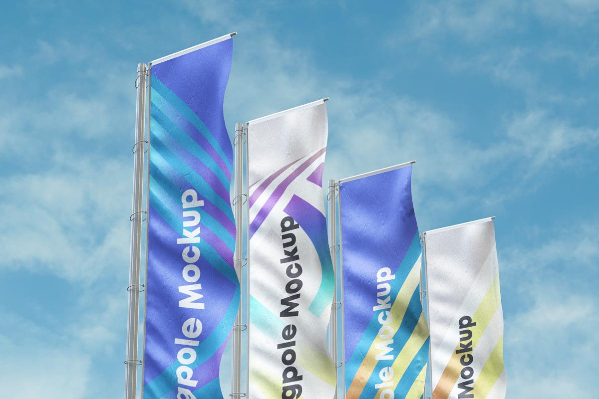 Psd Flagpole Advertising Mockup Psd Mock Up Templates Pixeden