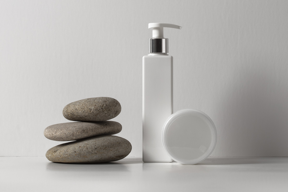 lotion psd bottle cosmetic mockup