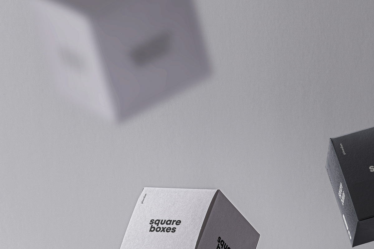 Gravity Psd Boxes Packaging Mockup