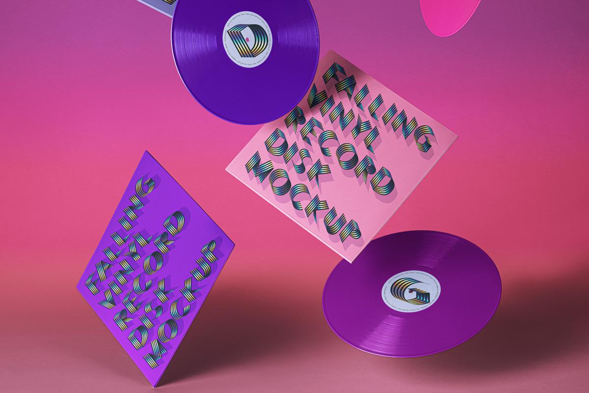 Gravity Psd Vinyl Record Mockup Psd Mock Up Templates
