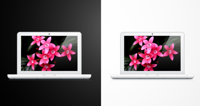 Apple macbook vector