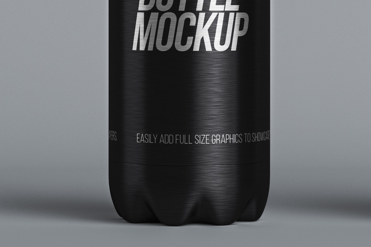 Metal Psd Vacuum Bottle Mockup Psd Mock Up Templates
