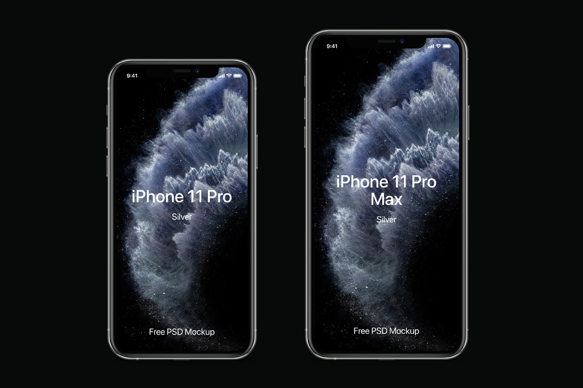 Psd Iphone 11 Pro Mockup Set Psd Mock Up Templates Pixeden