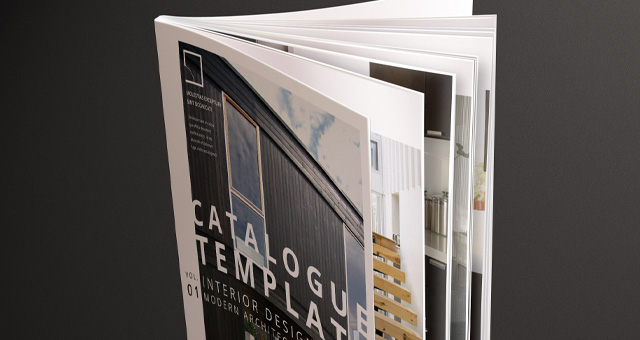 modern catalog magazine template