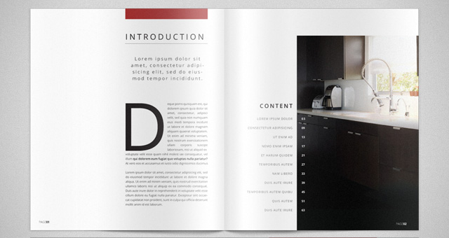 Modern catalog magazine template catalog templates pixeden for Modern interior design magazines