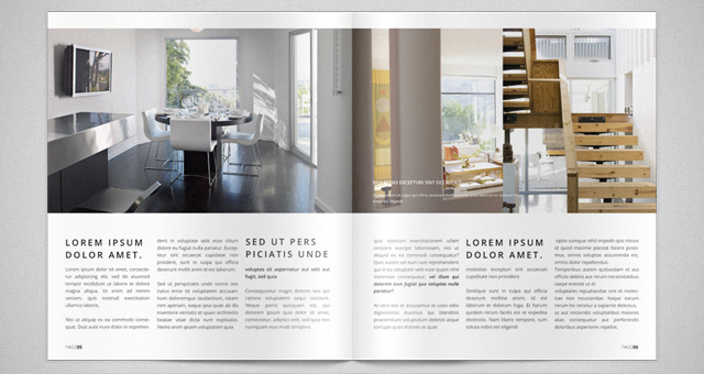 Modern catalog magazine template catalog templates pixeden for Deco design magazine