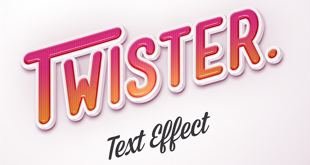 Psd Twister Text Effect Photoshop Text Effects Pixeden