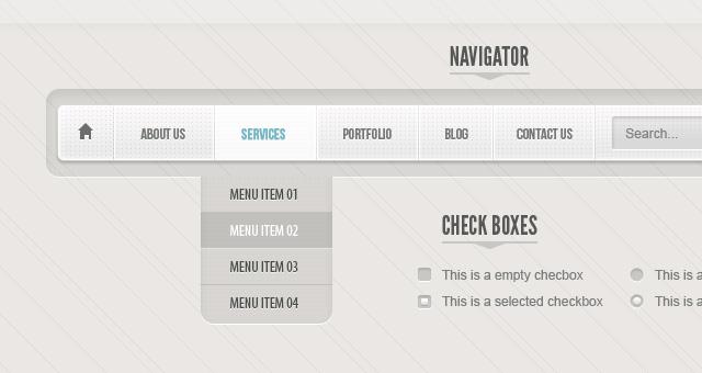 Classic Grey Psd Web UI Set 01