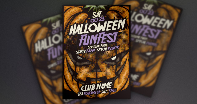 pumpkin halloween flyer template flyer templates pixeden
