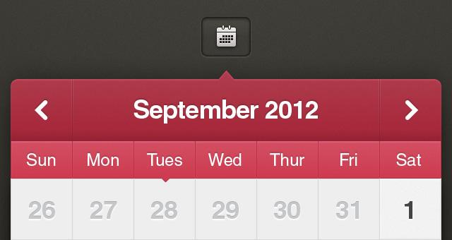 Calendar Ui Design Psd : Calendar ui kit ios psd mobile apps pixeden