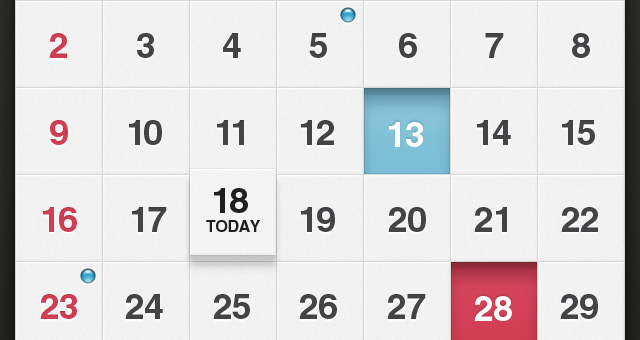 Weekly Calendar Ui : Calendar ui kit ios psd mobile apps pixeden