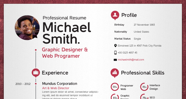 simple resume template vol2