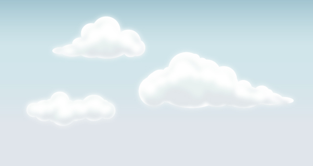 vector clouds set