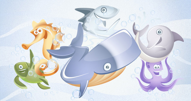 marine vector animals collection vol1